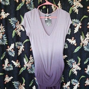 Eggplant dip dye dress
